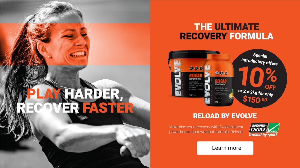 10% off the new Evolve Reload post-workout recovery protein