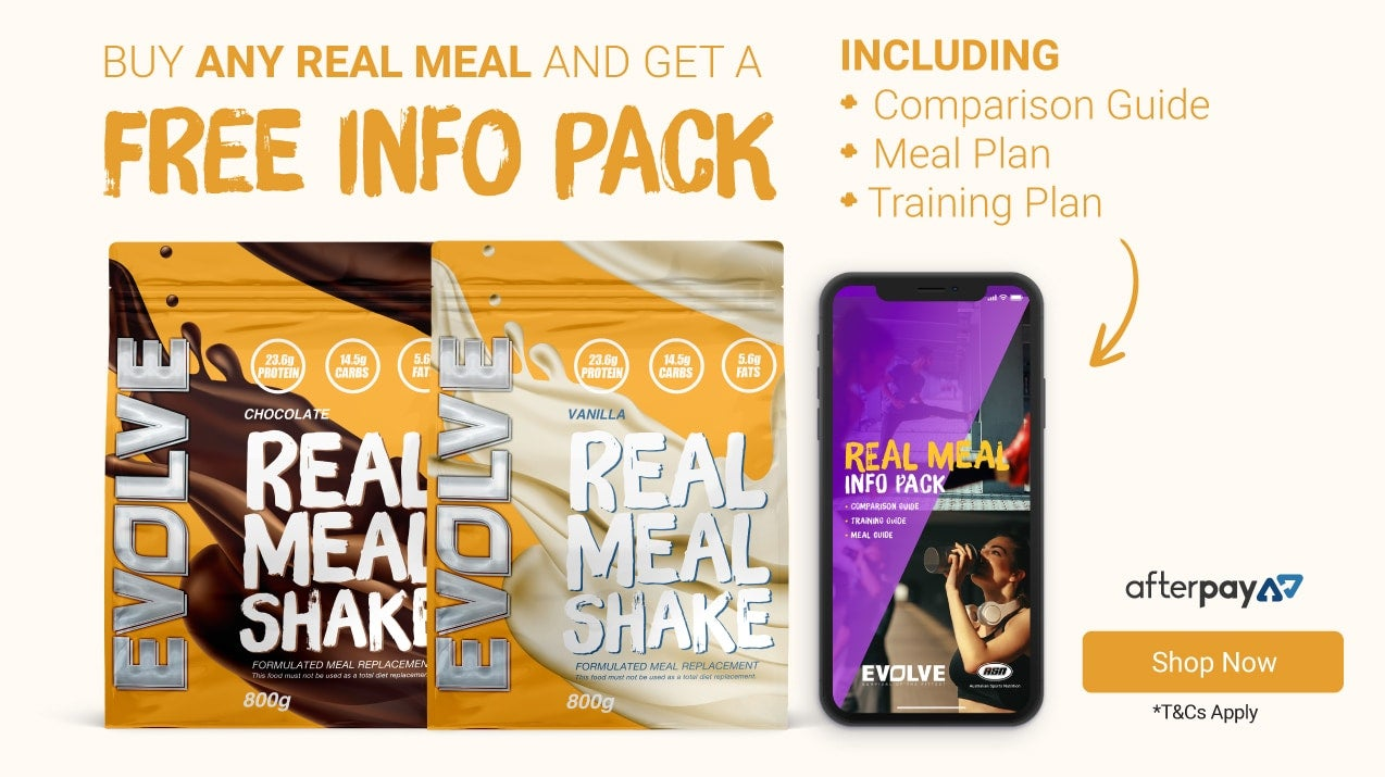 Get a FREE Real Meal Info Pack with Evolve Real Meal