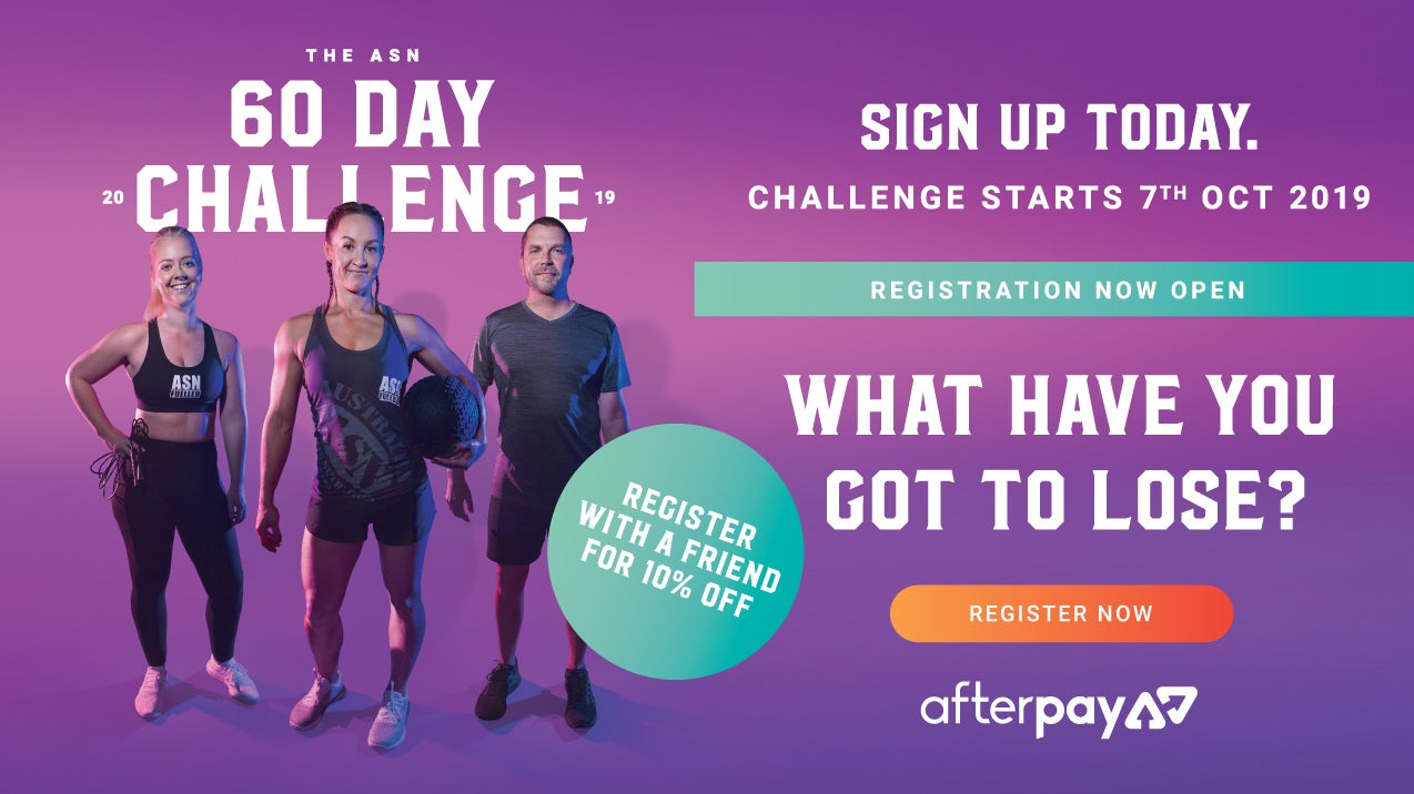 The ASN 60 Day Challenge - Rego open now, find out more!