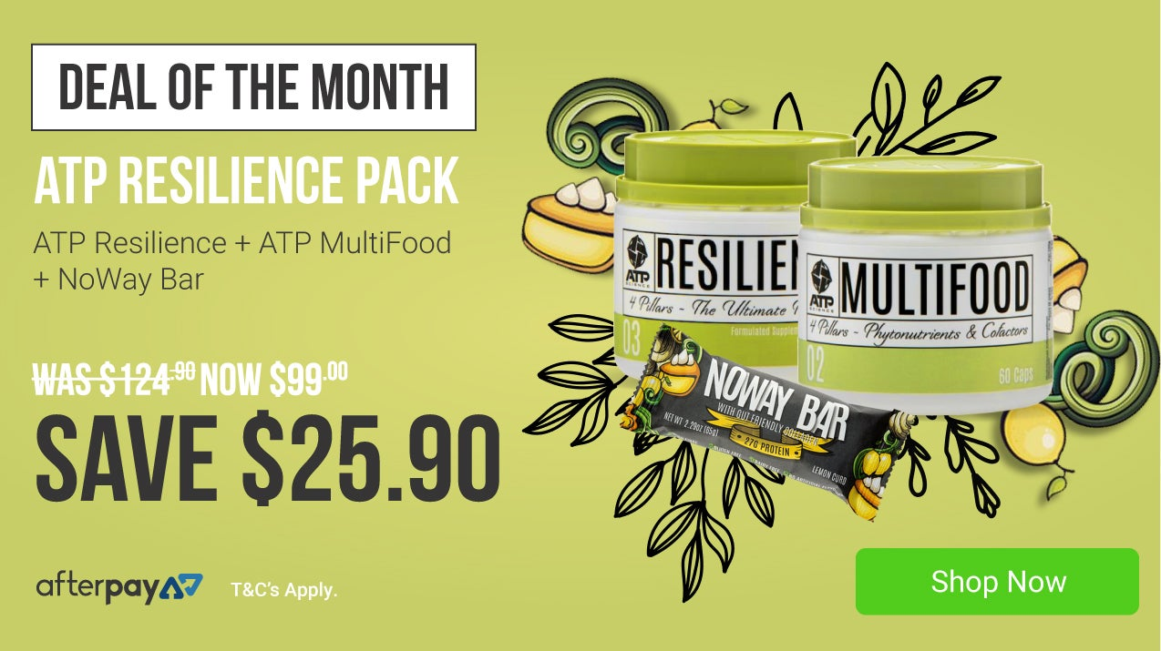 ATP Resilience Pack for only $99, plus get a free Noway Collagen bar