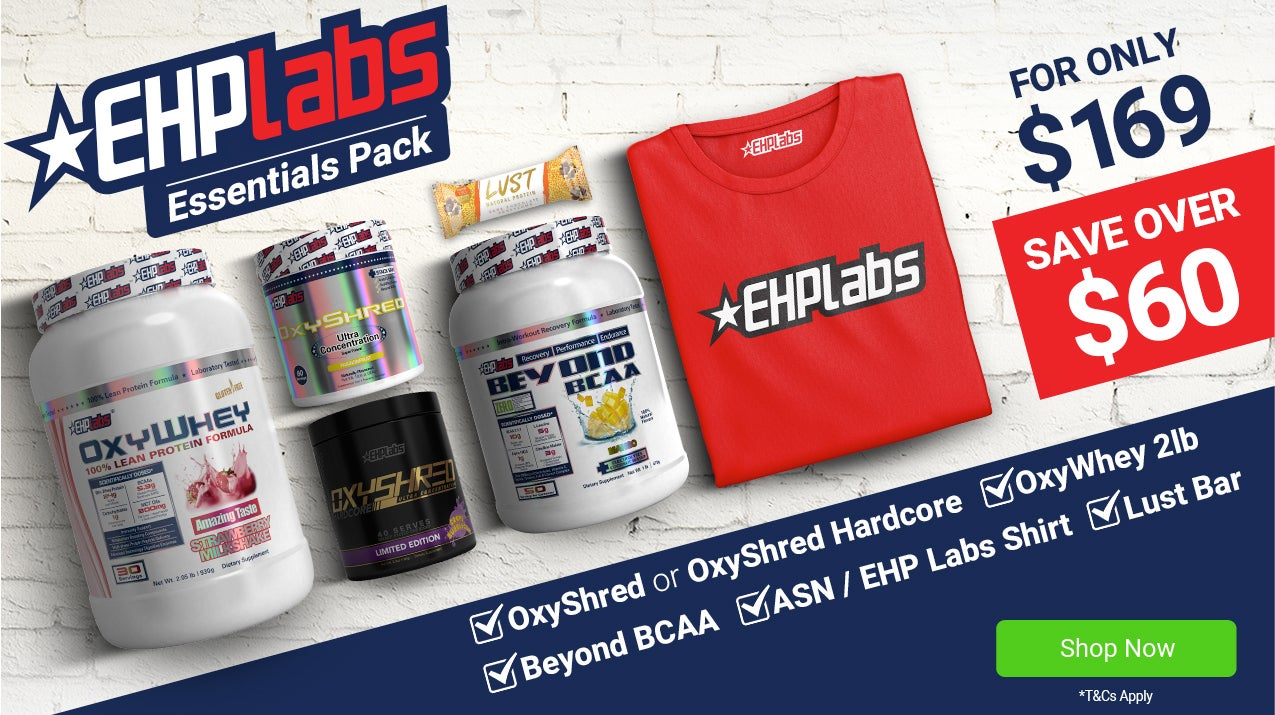 EHP Labs Essentials Pack + FREE T-Shirt & Free Lust Bar