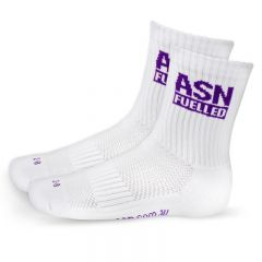 ASN Fuelled Crew Socks - White