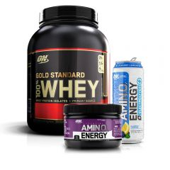 Gold Standard 100% Whey 5lb and Amino Energy RTD