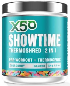 x50 showtime thermoshred