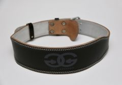 """4"""" Leather Weight Lifting Belt (Black)"""